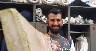 Pujara reaches 5K Test runs in as many innings as Dravid!