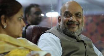 PIX: On Karnataka poll day, Amit Shah enjoys IPL game