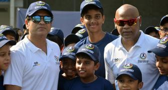 PIX: Tendulkar, Kambli back together on the field!