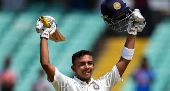A ton on Test debut is result of Prithvi's grit