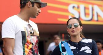 PIX: Sania spotted with Azhar's son