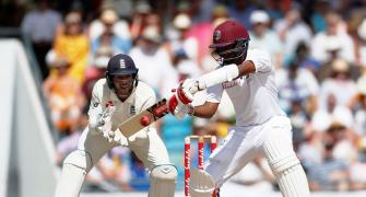 1st Test: Anderson strikes late as England peg back Windies