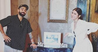Mr and Mrs Virat Kohli!