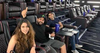Rohit Sharma watches Lion King with wife Ritika