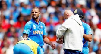 Will Dhawan be able to field in slips after injury?