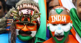 PICS: India-Pak fans add revelry to famed rivalry