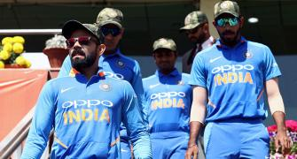 PHOTOS: Team India's special tribute to armed forces