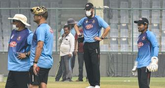 WATCH: Bangladesh players train with masks in Delhi