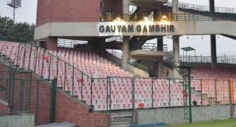 Gambhir finally has stand named after him at Kotla
