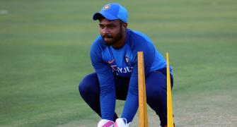 Samson replaces injured Dhawan for West Indies T20Is