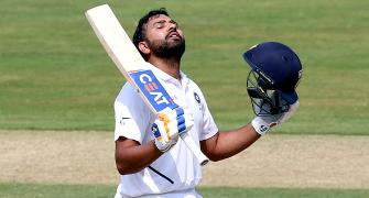 Rohit 1st batsman to hit tons in maiden Test as opener