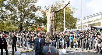 Angry fans vandalise Ibrahimovic's statue in Malmo