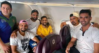 PHOTOS: Dhoni & Co arrive in Chennai for IPL camp
