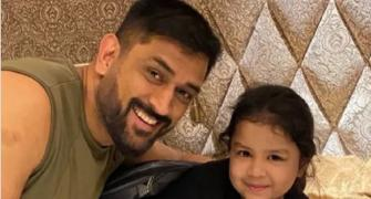 Ziva Dhoni is already missing her papa