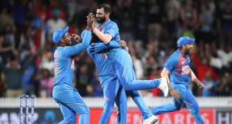 Rohit credits Shami for Super Over win over Kiwis