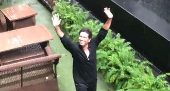 SEE: Raindrops keep falling on Sachin's head