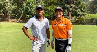SEE: Sachin, Lara tee off on the golf course