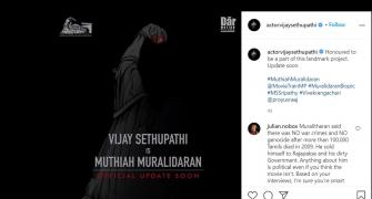 Tamil star Sethupathi to play Muralitharan in biopic