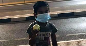 SEE: AB's 6 lands outside stadium; kid finds ball