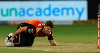 SRH's Marsh sustains freak injury