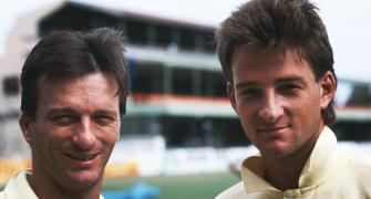 The Waugh brothers first pair of twins to play a Test