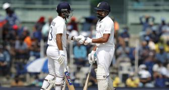 2nd Test: Rohit helps India weather top-order collapse