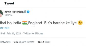 KP gets cheeky as he congratulates India