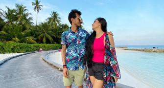 PIX: Yuzi and Dhanashree's Maldives vacation