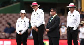 The first lady umpire in a men's Test