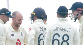 Leach takes fifer to take England near win in Galle