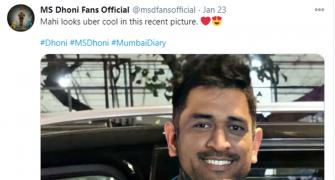 Seen Dhoni's new look?