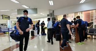 PIX: England team arrive in Chennai for Test series