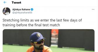 Rahane 'stretching limits' ahead of 4th Test