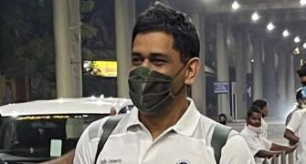 'Thala' Dhoni in Chennai for CSK training camp