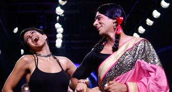 What a drag! Sunil Grover takes to the runway for Mandira Bedi