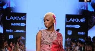 The first Nigerian model at Lakme Fashion Week