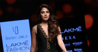 Simply gorgeous! Rhea Chakraborty on the ramp