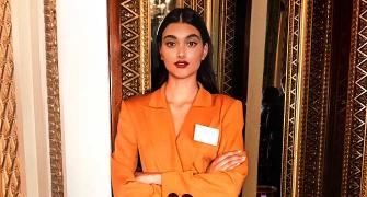 What was this Indian model doing at Buckingham Palace?