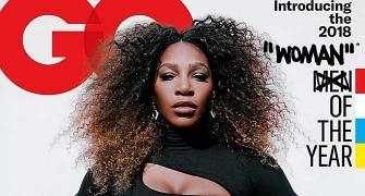 Off-duty chic! Serena's black bodysuit is downright sexy