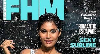 Lopamudra sizzles in floral swimsuit on FHM cover