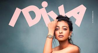 Radhika Apte flaunts bare legs in a floral dress