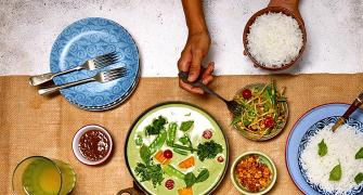 Party food recipes: Green Thai Curry and Som Tam Slaw