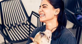 Pics! Samantha's fun-filled moments with her pet