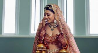 Who inspired Kajal Aggarwal's wedding lehenga