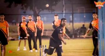IPL: Legend Murali bowls in the nets!