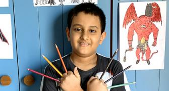 SEE: He draws, teaches and he's only 9!