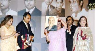 Brothers Ambani come together at Dhirubhai's memorial