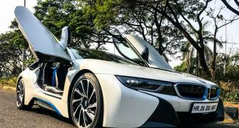 From 0-100 km in just 4.4 seconds! That's BMW i8