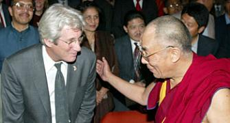 Richard Gere meets the Dalai Lama in Bihar