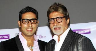 Bachchans, SRK celebrate Father's Day